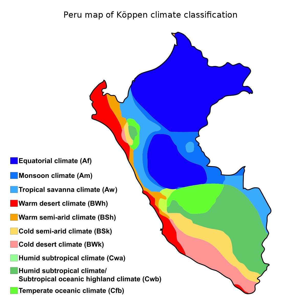 Peru Clima Mapa