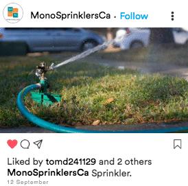 Exemplo de conteúdo enfadonho de conta Sprinkler