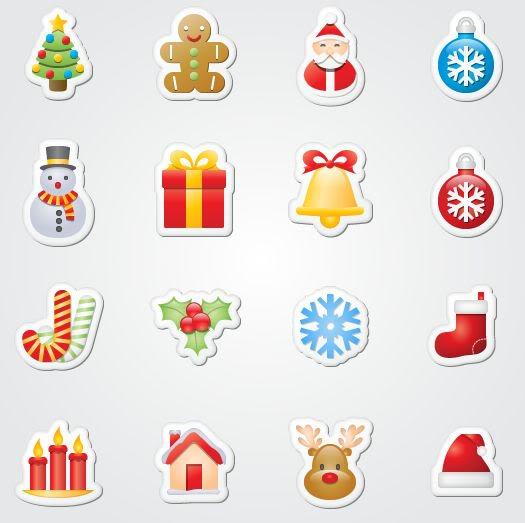 16 Free Xmas Sticker Icons
