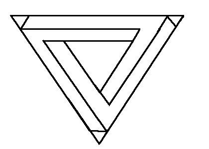 Desenhando com Lápis: Como Desenhar um Triângulo Impossível?