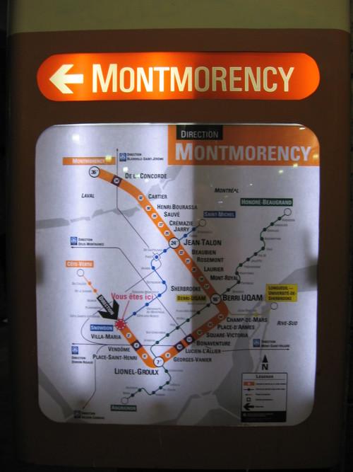 Hors des lieux communs  Mtro de Montral affichage temporel