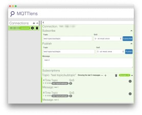 Using MQTTLens to test Mosquitto