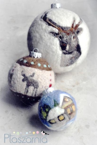 Filcowanie bombek - świąteczne rękodzieło (instrukcja) Ptaszarnia