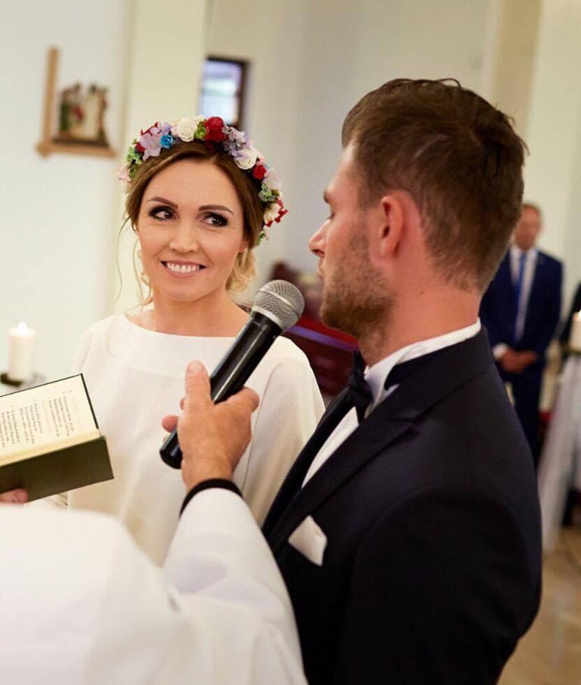 Małgorzata Ciechanowska wianek ślubny Ptaszarnia