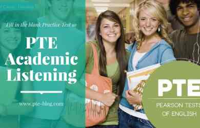 PTE Academic Listening: Fill in the blank Practice Test 10