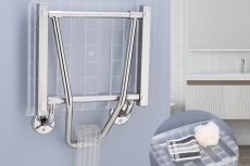 Stainless Wall Mounted Shower Seat Assistive Devices Stainless Wall Mounted Shower Seat