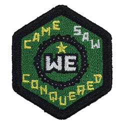 We Came, We Saw, We Conquered Merrit Badge