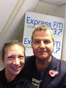 Gen Levrant with Express FM's Miles Henson