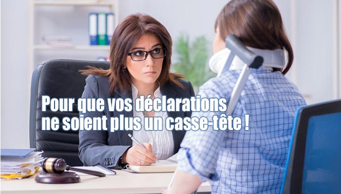 declaration accident de travail formalites administratives