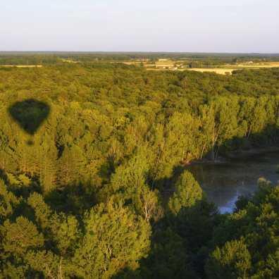 On survole la forêt... Bientôt, on caressera la cime des arbres