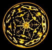 Vibration de l'eau, étoile a 5 branches