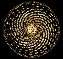 Vibration de l'eau, spiral de Fibonnaci