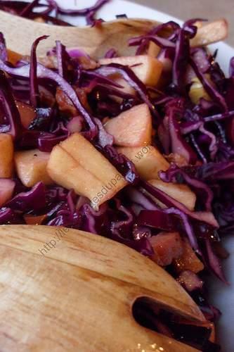 Recette Chou Rouge Lardons Pommes De Terre : recette, rouge, lardons, pommes, terre, Salade, Rouge, Pommes, Lardons,, Recette, Ptitchef