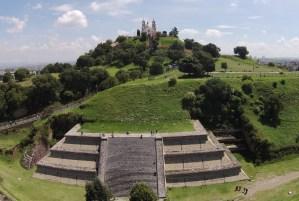 Vista panóramica en piramide de cholula