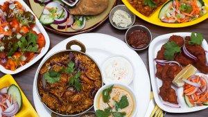 Platillos de la comida hindú