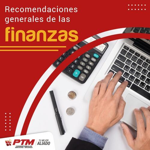 Recomendaciones generales de las finanzas