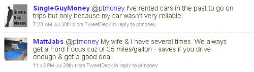 Car Rental Tweet