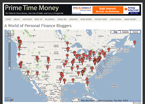 The Personal Finance Blogger Map