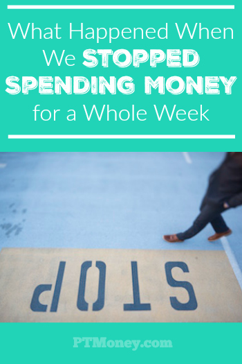 This month our aggressive saving and spending finally got the best of us. Now we're running a bit low. So, instead of dipping into our savings or using debt, we are challenging ourselves to not spend any money this week.