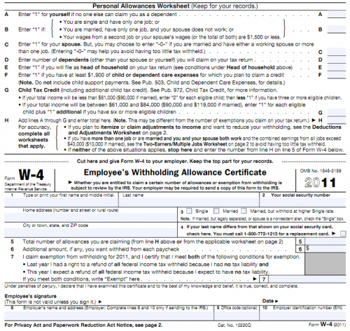 How to Fill Out a W4 Form Without Errors – W4 Deductions and Adjustments Worksheet