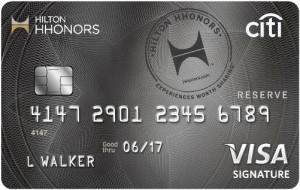Hilton HHonors Reserve Card Art
