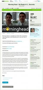 Morning Head Kickstarter