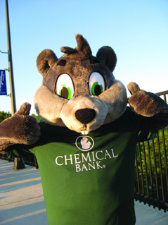 Dollar the Squirrel Mascot of Chemical Bank - Teaching Young Children to Save Money