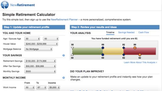 NewRetirement Simple Calculator