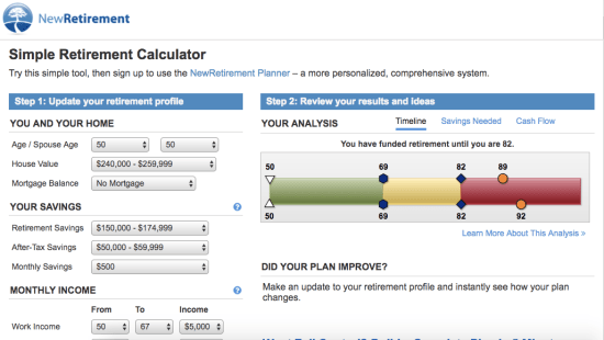 NewRetirement Simple Calculator