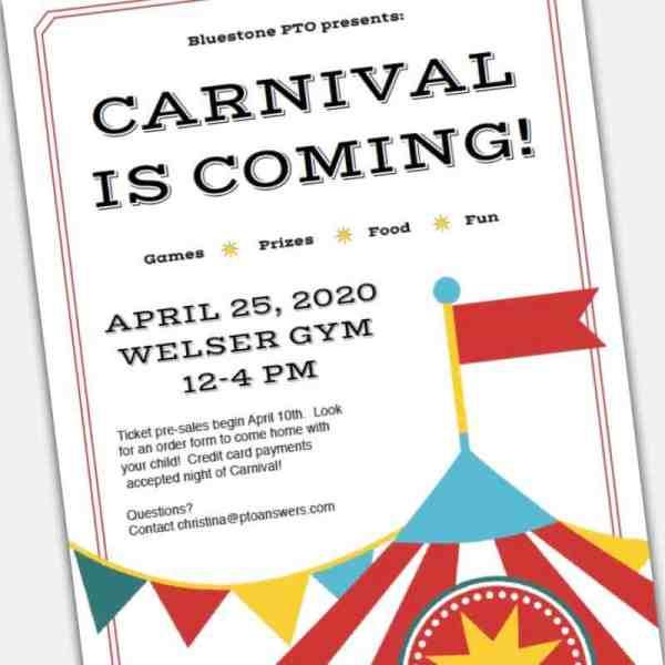 Printable custom DIY Carnival Flyer Template
