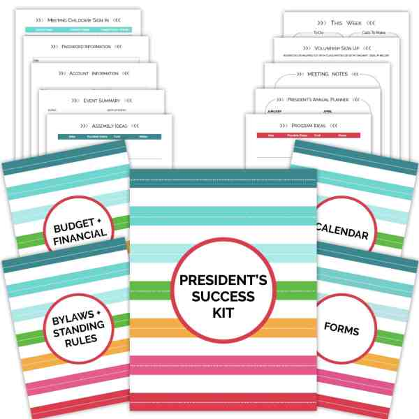 PTA PTO President's Success Kit