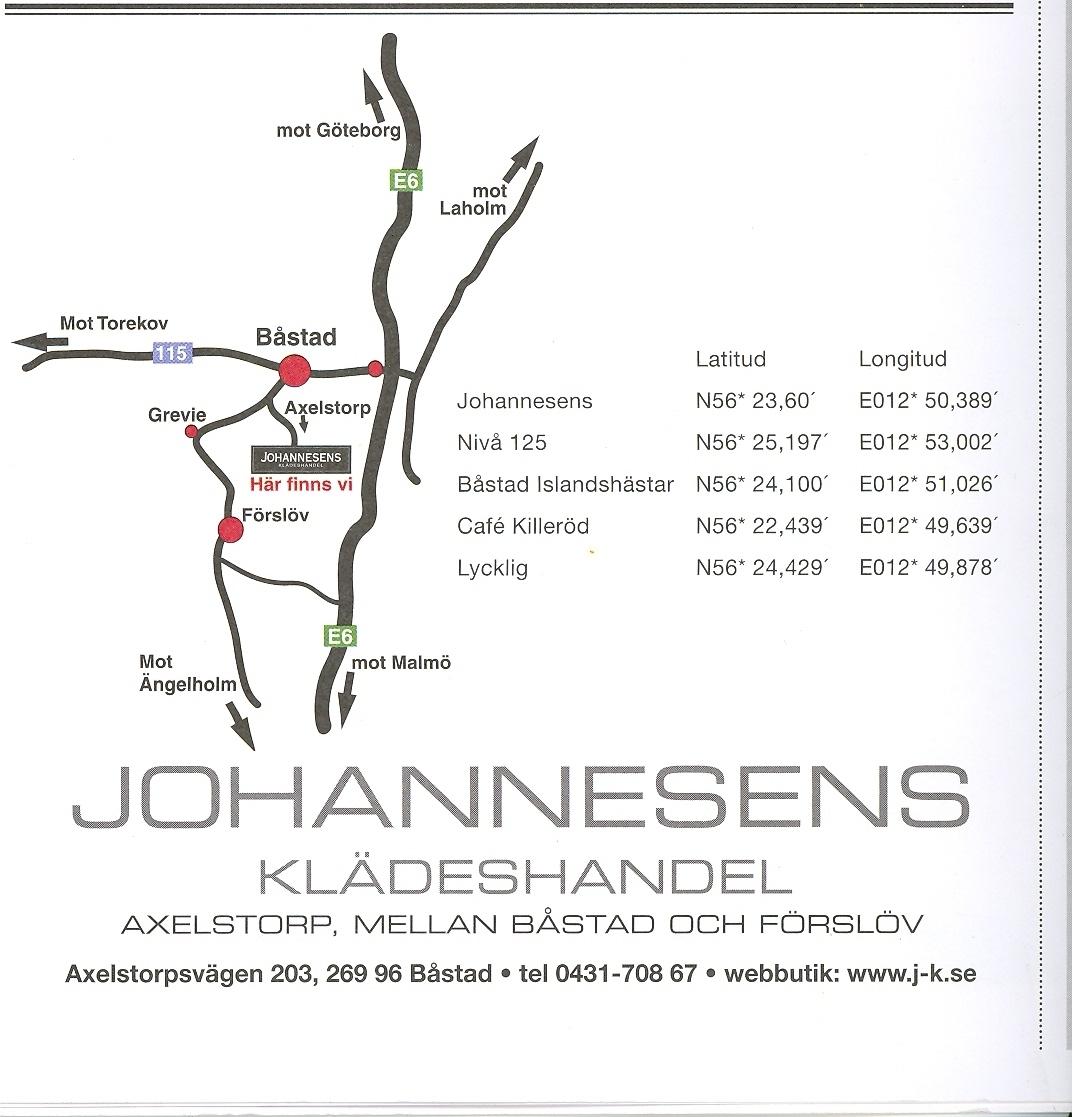 Johannesens GPS position