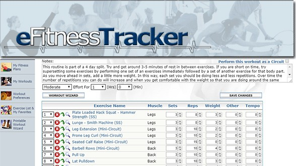 Personal Training Software eFitness Tracker Review