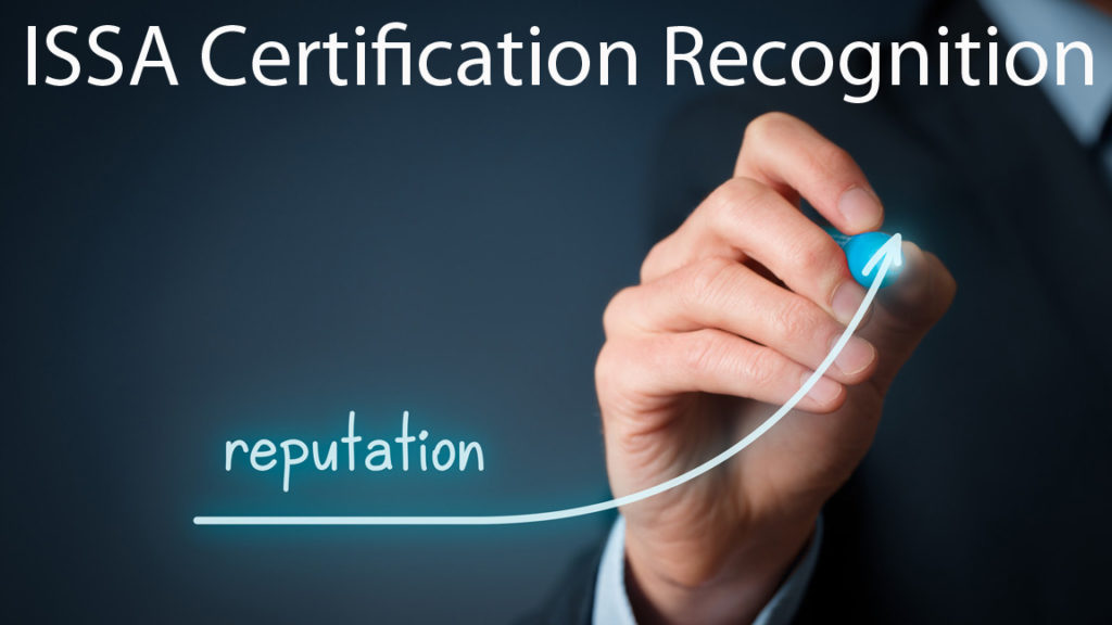 ISSA certification recognition