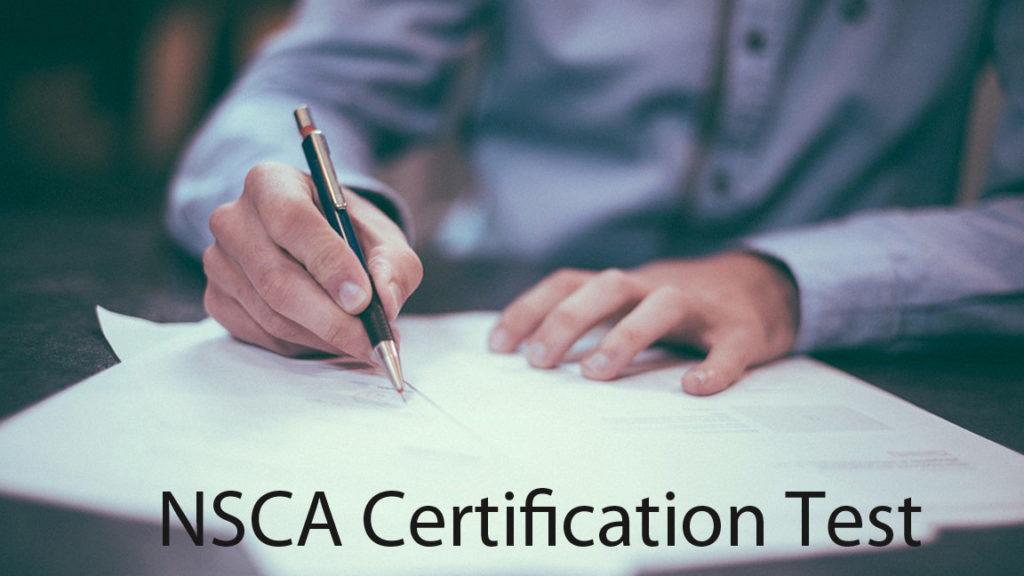 NSCA certification test