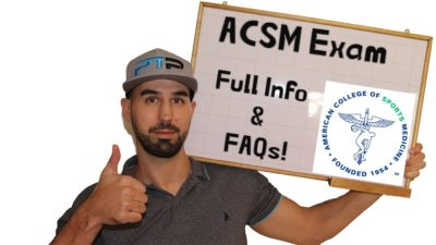 ACSM Exam FAQ - ACSM Exam Pass Rate, Test Difficulty, and More Info