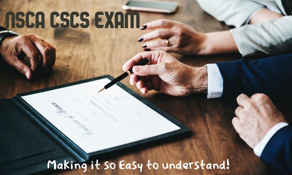 NSCA CSCS Exam Break Down