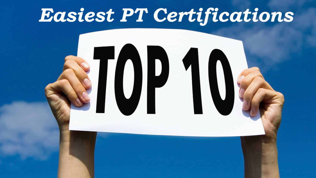 List of the Easiest Personal Training Certifications