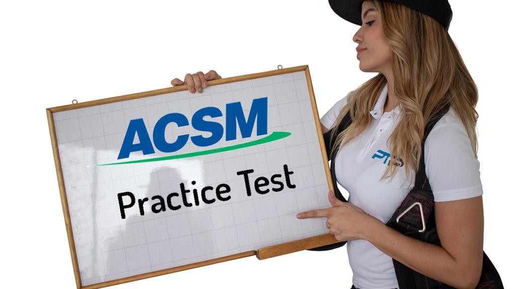 Free ACSM practice test