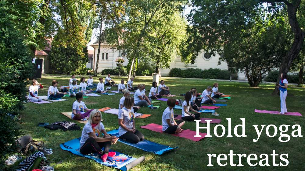 Hold yoga retreats