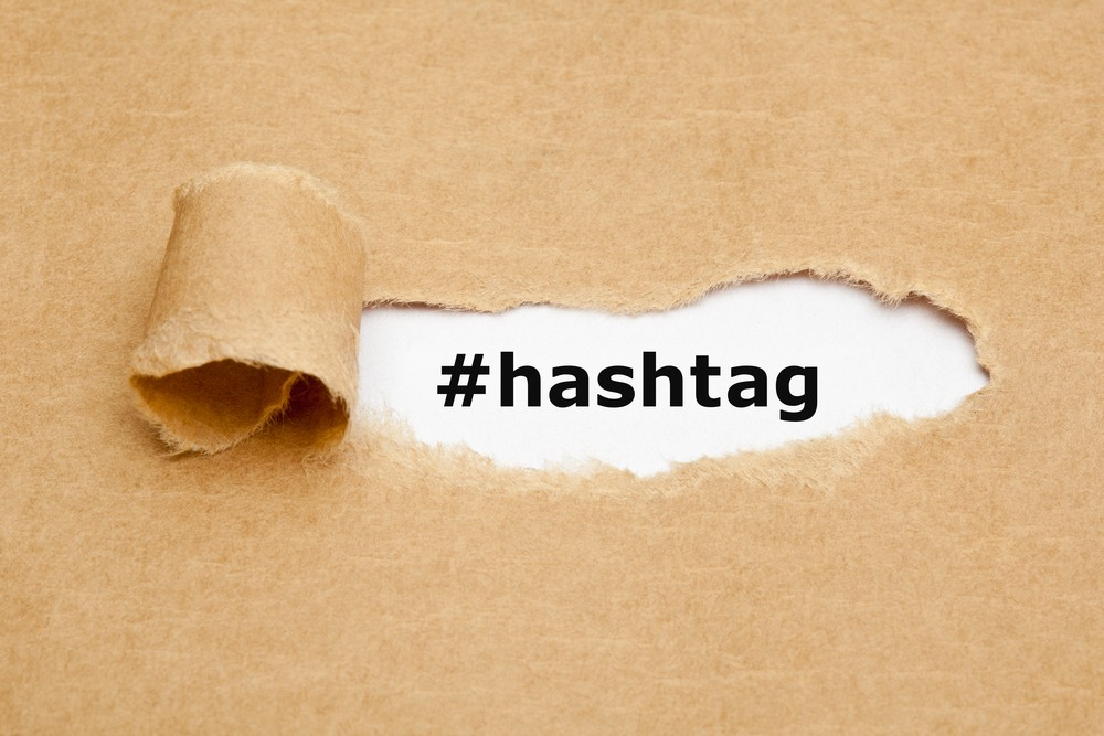 Research hashtags and use them