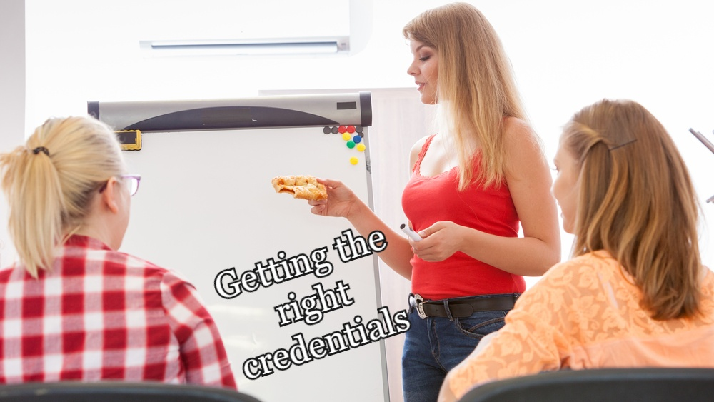 Getting the right credentials to become an online nutrition coach