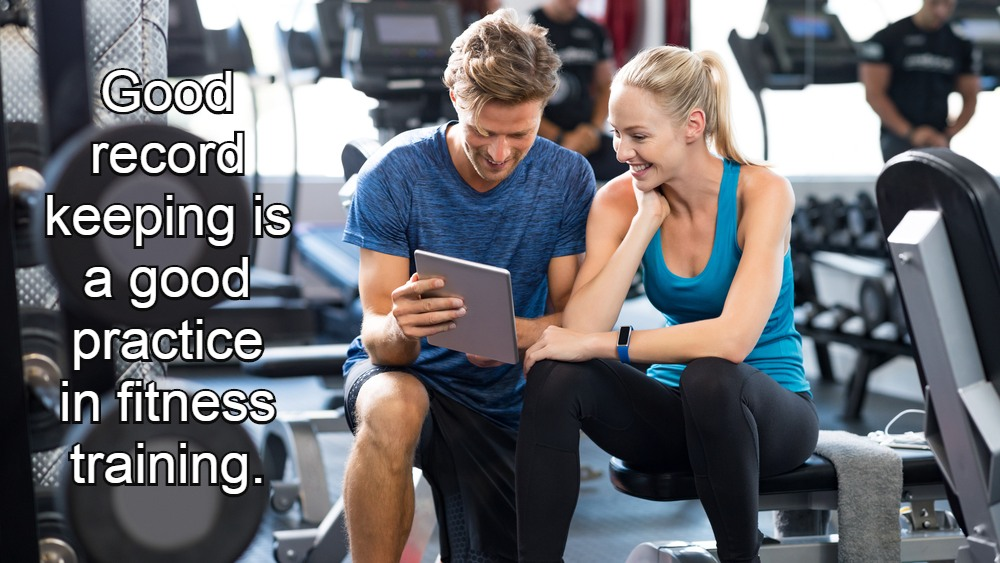 Record keeping in fitness training