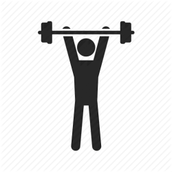 icon strength exercise gym training weight fitness sport dumbbell transparent background icons health stamina workout muscle sports weakness gymnastic physical