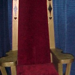 Black Chair Pads Recliner Chairs Gumtree Wooden Red Velvet Seat Kings Throne - Party Time Rental
