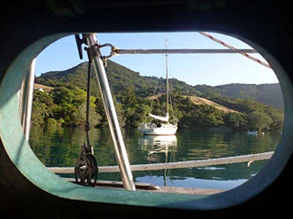 Port Fitzroy, NZ. RUAKURI from SOCKDOLAGER's porthole