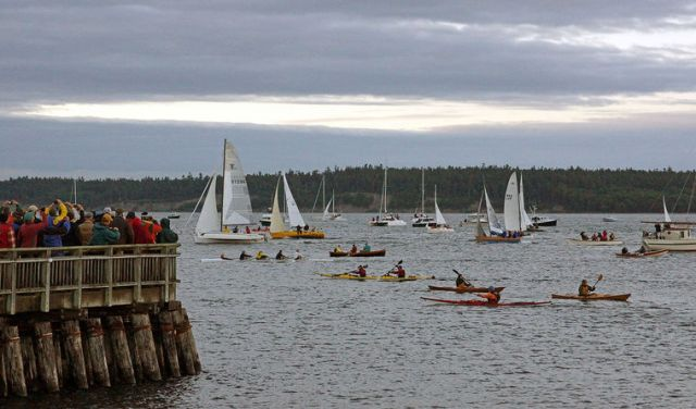 The start of the 2015 R2AK. Photo from the Port Townsend Leader.