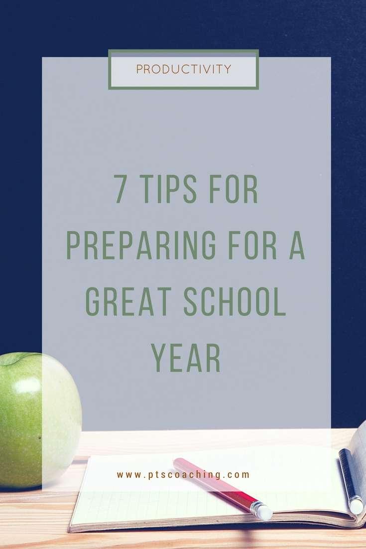prepare for the school year