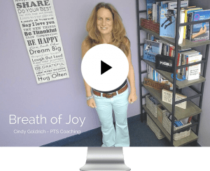 PTS Coaching - Cindy Goldrich - Video Breath of Joy tools for adhd
