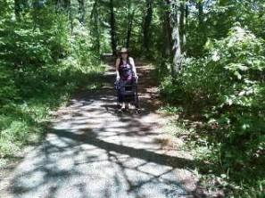 Pushing my walker on a hiking trail at William O'Brien State Park